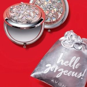 5/$20 NWT Avon Bejeweled Dual Mirror Compact